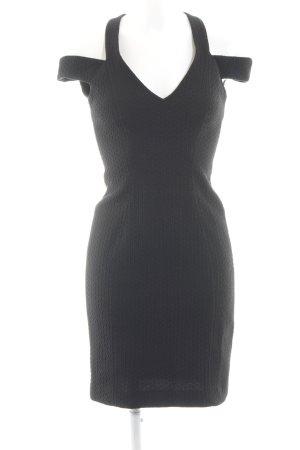 Spotlight by Warehouse Cut-Out-Kleid schwarz Allover-Druck Elegant