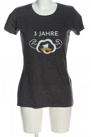 spread shirt Print-Shirt hellgrau meliert Casual-Look