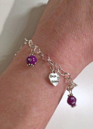 no name Charm Bracelet silver-colored metal