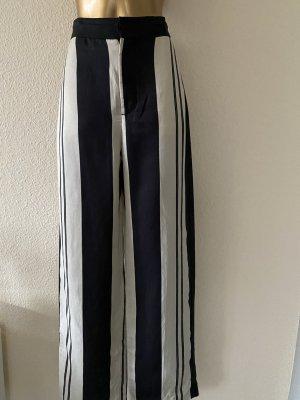 Zara Woman Pantalone palazzo nero-bianco