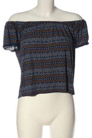 Springfield Camisa tipo Carmen azul-marrón look casual