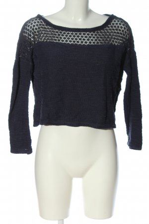 Springfield Cropped Jumper blue-black allover print casual look