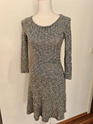Springfield dünnes Kleid Glockenkleid 3/4 Arm in schwarz weiß XS