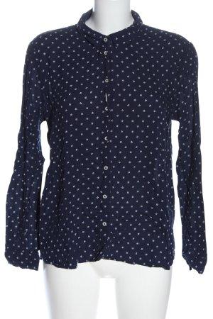 Springfield Camicia blusa blu-bianco stampa integrale elegante