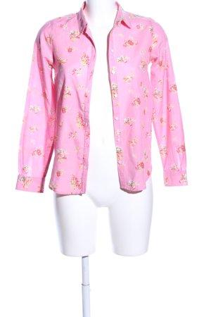 Springfield Hemd-Bluse pink-blassgelb Allover-Druck Casual-Look