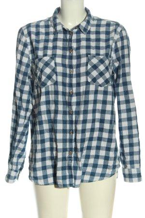 Springfield Camicia da boscaiolo blu-bianco stampa integrale elegante
