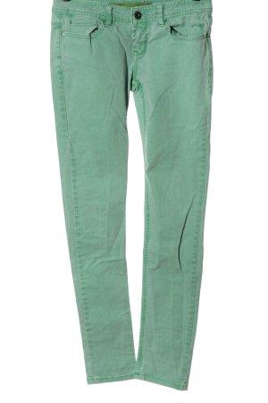 Springfield Jeans vita bassa verde stile casual