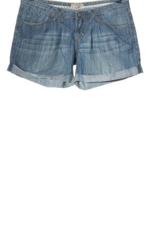 Springfield Pantaloncino di jeans blu stile casual