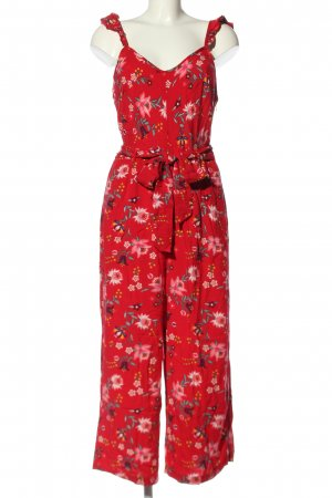 Springfield Jumpsuit rot-pink Allover-Druck Casual-Look