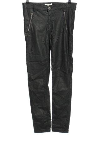Springfield Kunstlederhose schwarz Nietenelemente