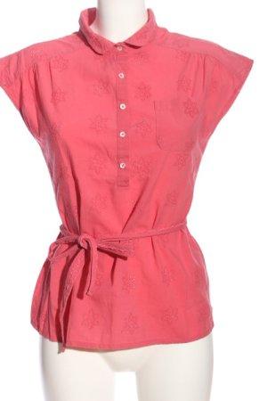 Springfield Kurzarm-Bluse pink Casual-Look