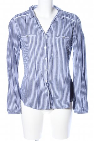 Springfield Langarm-Bluse blau-weiß Streifenmuster Casual-Look