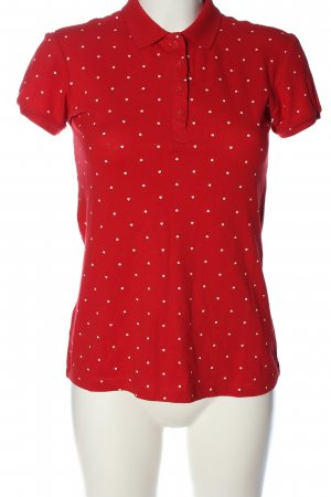 Springfield Polo shirt rood-wit volledige print casual uitstraling