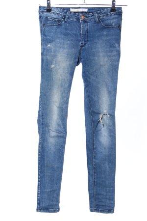 Springfield Jeans cigarette bleu style décontracté