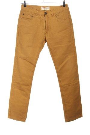 Springfield Jeans coupe-droite brun style décontracté