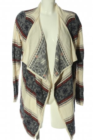 Springfield Knitted Cardigan abstract pattern casual look