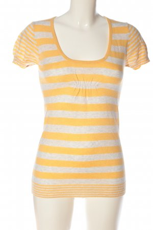 Springfield T-shirts en mailles tricotées blanc cassé-jaune primevère