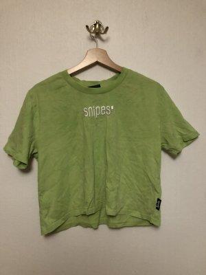 Snipes Camisa recortada verde pradera