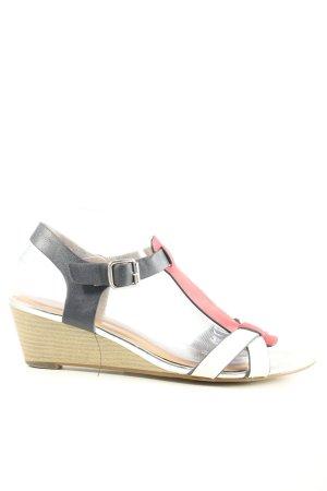 SPROX Sandales à talons hauts et lanière multicolore style décontracté