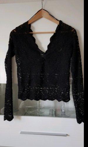 Zara Kanten topje zwart