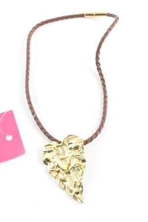 Spyriliotis Bijoux Statementkette braun-goldfarben Elegant