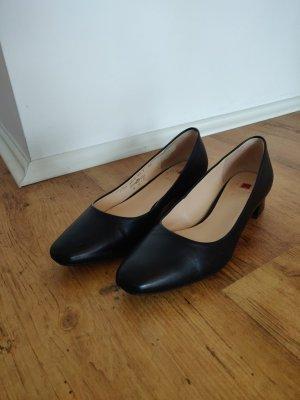 Square toe Pumps klassische Ballerina Högl Office Schuhe Leder 38