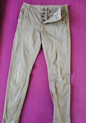 Spodnie typu boyfriend khaki Bawełna