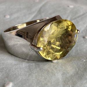 HSE 24 Zilveren ring zilver-geel