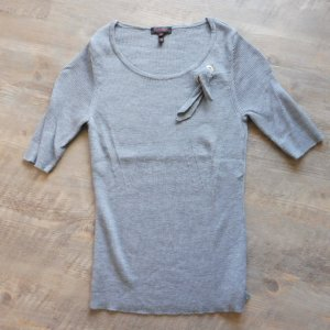 Escada Short Sleeve Sweater grey wool