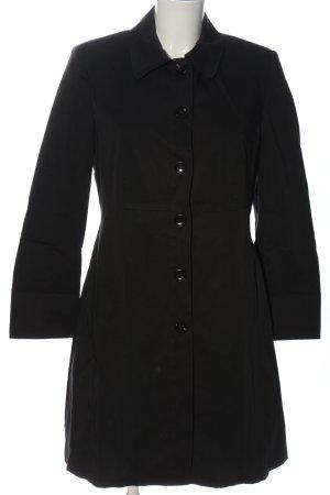 St. emile bodenlanger Mantel schwarz Casual-Look