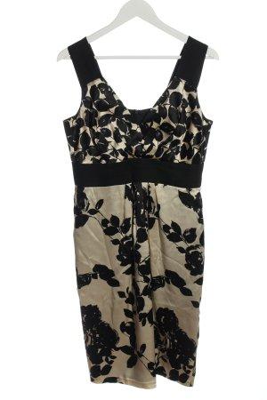 St. emile Cocktail Dress cream-black flower pattern classic style