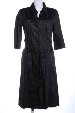St. emile Hemdblousejurk zwart elegant