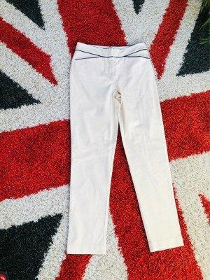 St. emile Pantalone jersey bianco sporco-blu scuro