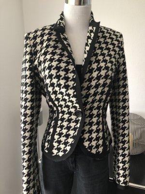 St. emile Tweed Blazer white-black wool