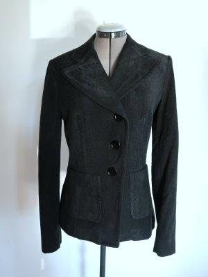 ST. EMILE Jackett Blazer Cord Wolle dunkelgrün Gr. 36/38