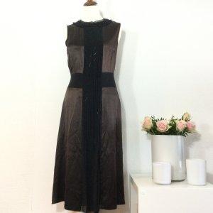 St. EMILE Kleid Seidenkleid braun schwarz Gr. 40 elegant edel