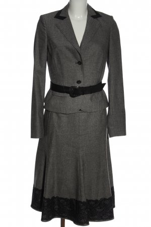 St. emile Kostüm hellgrau-schwarz Elegant