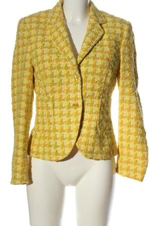 St. emile Blazer corto giallo pallido stampa integrale stile casual