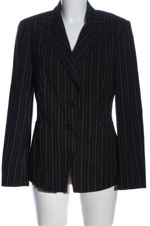 St. emile Korte blazer zwart-wit gestreept patroon casual uitstraling