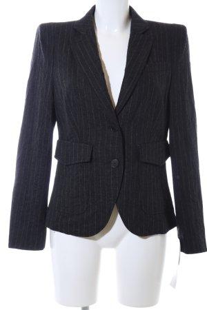 St. emile Korte blazer zwart-lichtgrijs gestreept patroon zakelijke stijl