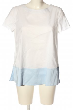 St. emile Kurzarm-Bluse weiß-blau Casual-Look
