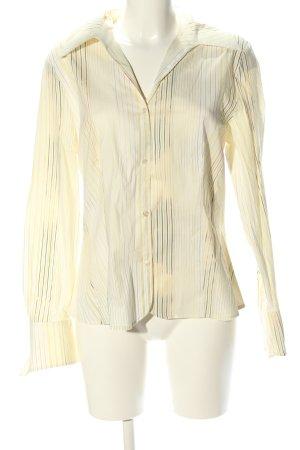 St. emile Langarm-Bluse blassgelb Streifenmuster Business-Look