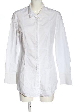 St. emile Langarmhemd weiß-silberfarben Casual-Look