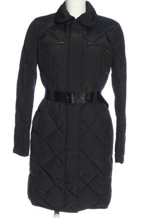 St. emile Długa kurtka czarny Pikowany wzór W stylu casual