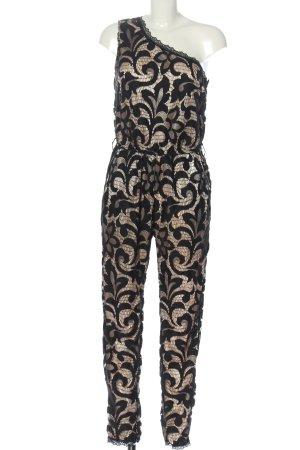 St. emile Langer Jumpsuit czarny-różowy W stylu casual