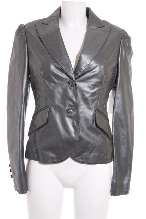 St. emile Leather Blazer slate-gray elegant