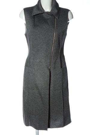 St. emile Gilet long tricoté gris clair moucheté style décontracté