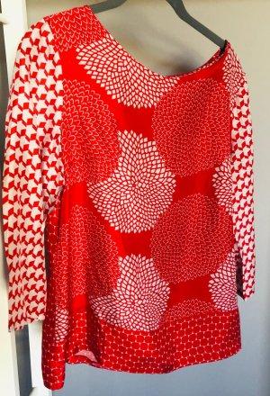 St. emile Blusa de manga larga rojo-naranja neón Seda