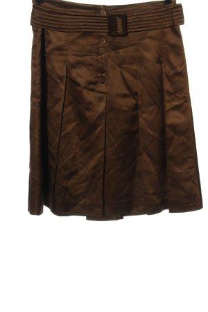 St. emile Jedwabna spódnica brązowy W stylu casual