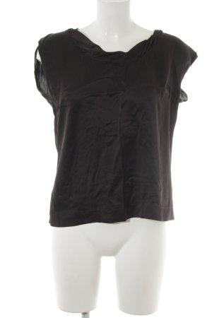 St. emile Top in seta marrone scuro stile professionale